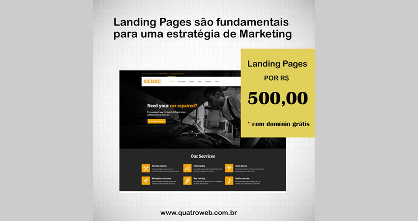 Landing Pages são fundamentais para uma estratégia de Marketing/QUATROWEB – ES